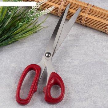 Ножницы закройные, скошенное лезвие, 25,5 см, цвет микс