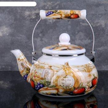 Чайник 2 л  с керамической ручкой тоскана