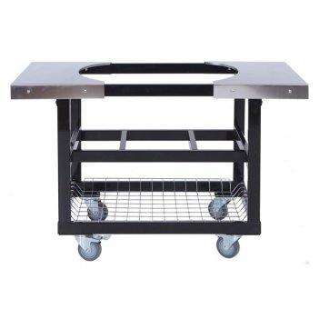 Стол - тележка со столешницами из нержавеющей стали для primo primo oval 4