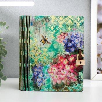 Шкатулка-книга гортензии 14х10 см