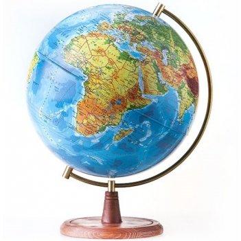 Globen глобус земли физико-политический рельефный 320 с подсветкой серия е