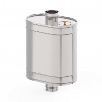 Бак на трубе для печи 80 л, d 115 мм, нержавейка 0.8 мм (штуцер 3/4)