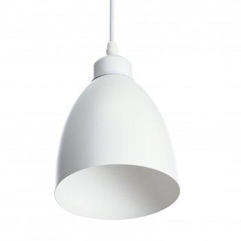 Светильник подвесной овал 1x40вт e27 белый 14х14х18-98 см