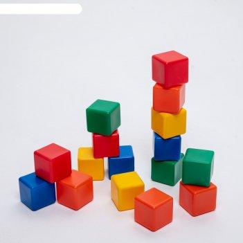 Набор цветных кубиков,16 штук 6 x 6 см