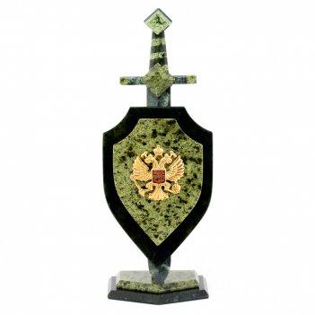 Сувенир щит и меч камень змеевик