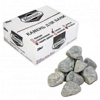 Камень для бани габбро-диабаз, галька, добропаровъ, коробка 20кг, фракция