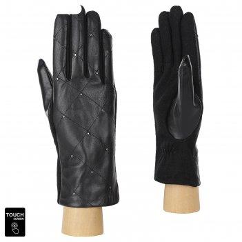 Перчатки женские натуральная кожа/шерсть (размер l) черный