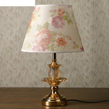 Лампа настольная золотой цветок е27 220в низ с подсветкой 47х28х28 см