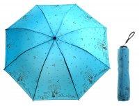 Зонт механический прогулка влюбленных, цвет голубой