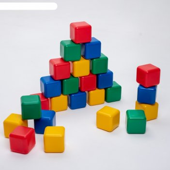 Набор цветных кубиков, 25 штук, 12 x 12 см