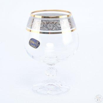 Набор бокалов для бренди bohemia клаудия панто платина v-d 250 мл(6 шт)