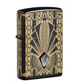 Зажигалка zippo коллекционная модель 2021 с покрытием high polish black, ч