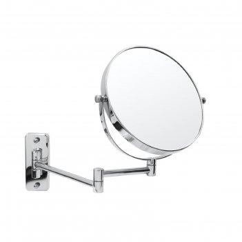 Зеркало косметическое подвесное belle, 1х/5х, цвет хром