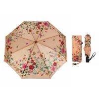 Зонт автоматический «нежность», 3 сложения, 8 спиц, r = 50 см, цвет бежевы