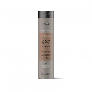 Шампунь для волос lakme teknia refresh cocoa brown shampoo для коричневых