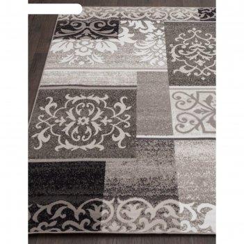 Прямоугольный ковёр silver d216, 300x400 см, цвет gray