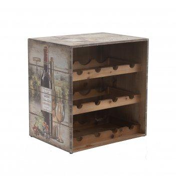 Подставка для 12-ти бутылок, l40 w30 h41,5 см