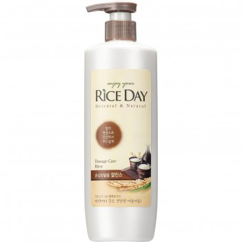 Кондиционер cj lion rice day для поврежденных волос, увлажняющий, 550 мл