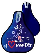 Мт11717 сани-ледянка оленёнок цвет синий, 52*42см