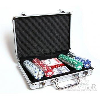 Покерный набор на 200 шт 12 гр шелкография