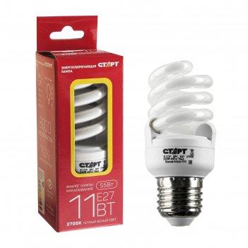Лампа энергосберегающая старт эко, 11 вт, e27, 2700 k, 220 в