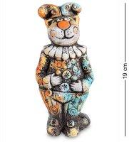Kk-428 фигурка кот клоун шамот