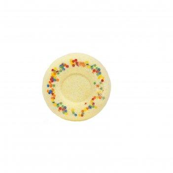 Бурлящий шар для ванн медовый пончик.  60 г