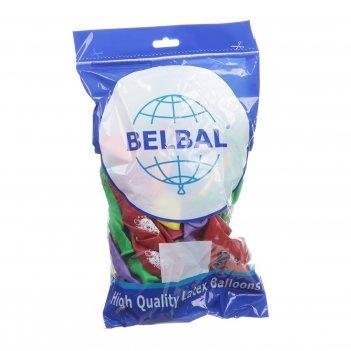 Набор воздушных шаров с рисунком belbal клоун, 50 шт.