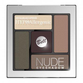 Сатиново-кремовые тени для век bell hypoallergenic nude eyeshadow, тон 04