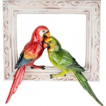 Панно настенное попугаи 28,5*6,5*29,2см (кор=6шт.)