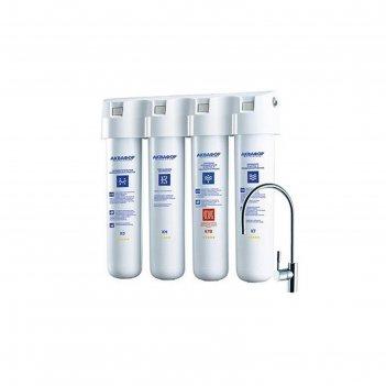 Фильтр для воды аквафор кристалл эко н, 4-х ступенчатый,  с краном, 2.5 л/
