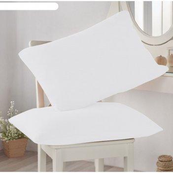 Наволочка, размер 50 x 70 см-2 шт, цвет белый