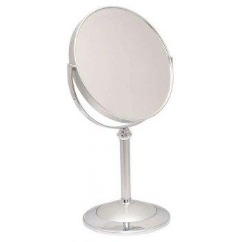 Зеркало b7 8011 s3/c silver наст. кругл. 2-стор. 5-кр.ув.18