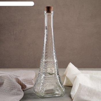 Бутылка для масла «париж», 350 мл, 9x27 см