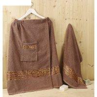 Набор для сауны мужской karna relax, цвет коричневый, махра 400 г/м2