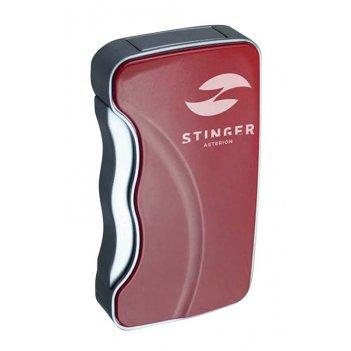 Зажигалка stinger газовая asterion, красный, 40х14x73 мм