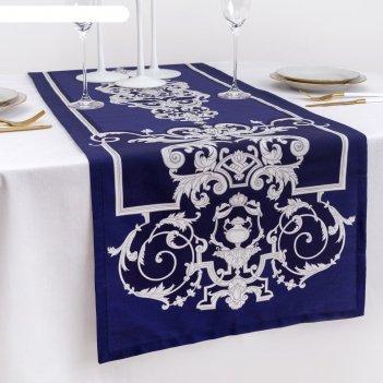 Дорожка на стол роскошь 40*146 см, 100% хл, саржа 190гр/м2