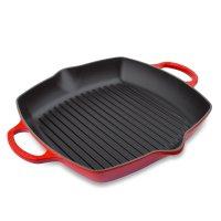 Сковорода - гриль глубокая, размер: 30 х 30 см, материал: чугун, цвет: кра