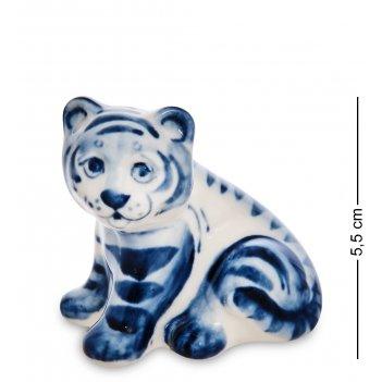 Гл- 29 фигурка тигренок (гжельский фарфор)