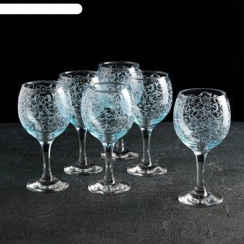 Набор фужеров для вина 260 мл лиана, 6 шт, гравировка