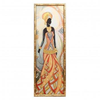 Гобеленовая картина  африканка (с ананасом) 35х100см №1