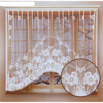 Штора со шторной лентой, размер 160х265 см, 100% п/э, цвет белый