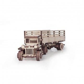Деревянный конструктор «грузовик зис-10 тягач»