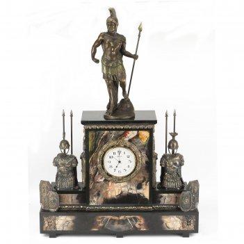 Часы спартанец яшма бронза 520х150х740 мм 41500 гр.