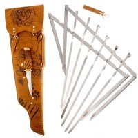 Набор для шашлыка записки охотника.тигр (6 шампуров, нож) 69,5х20,5х3,5 см