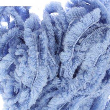 Пряжа меховая 20% меринос.шерсть, 80% акрил 40м/200гр (0780, незабудка)