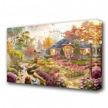 Картина на холсте цветочный сад