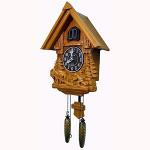 Настенные деревянные часы с кукушкой sinix 693farm b_c