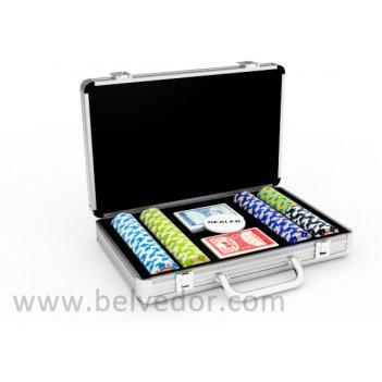 Набор для покера на 200 фишек monte carlo stars 14 гр.