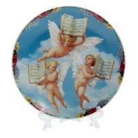 Тарелка декоративная ангельские создания, d=15 см, микс